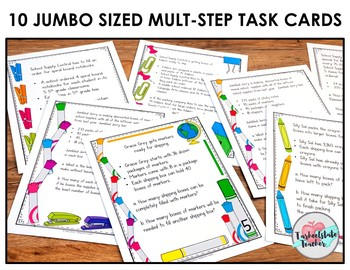 Multiplication Division Multistep Word Problems Task Cards