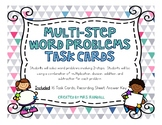 Multi-Step Word Problems Task Cards (Scoot)