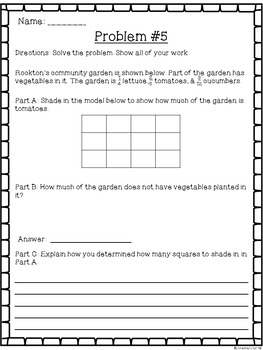 4th Grade Multi-Step Word Problems ~ Test Prep ~ Math Worksheets ~ CCSS