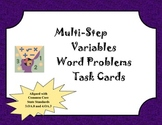 Multi-Step Word Problems (Variables Only)