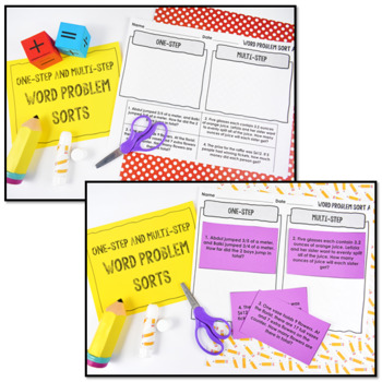 Multi-Step Word Problems: Whole Numbers, Fractions, & Decimals {Intervention}