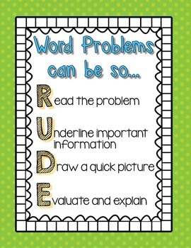 Multi-Step Word Problems (Whole Numbers) Step by Step guide Interactive Notebook