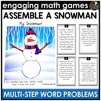 Winter Multi-Step Word Problems Game