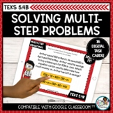 Multi Step Word Problems and Equations   Boom Cards Distan