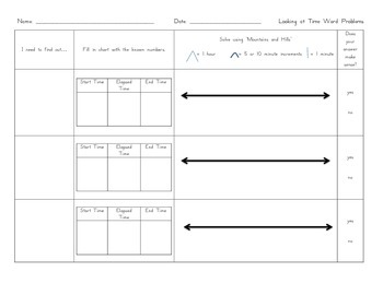 Multi-Step Word Problems and Graphic Organizers Packet