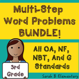 Multi-Step Word Problems-BUNDLE (All 3rd Grade OA, NF, NBT