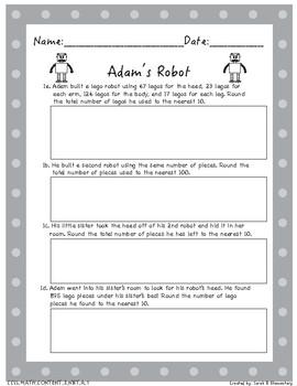Multi-Step Word Problems (All 3rd Grade NBT Standards)