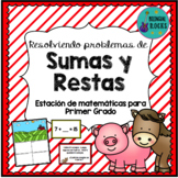 Word Problems in Spanish {1st Grade}