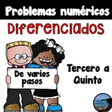 Multi Step Word Problems in Spanish / Problemas de varios pasos