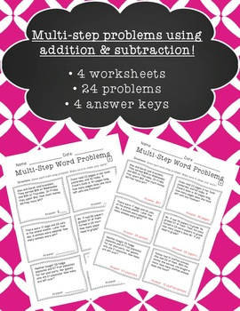 Multi-Step Word Problems w/ Addition & Subtraction