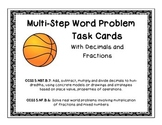 Multi-Step Word Problems with Fractions and Decimals Task Cards
