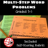 Multi-Step Word Problem of the Day with Self-Scoring Rubric