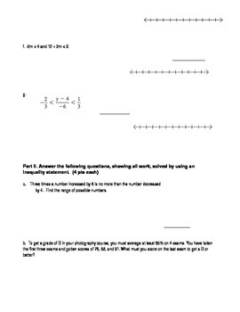 Multi-Step and Compound Inequalities Quiz