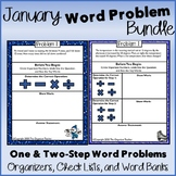 Multi-Step and Single Step Word Problems January Edition Bundle