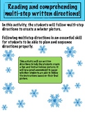Multi-Step and reading comprehension activity, winter picture edition.