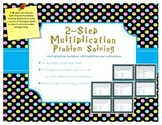 Multi-Step multiplication problem solving task cards