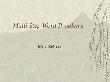 Multi- Step word Problems 2
