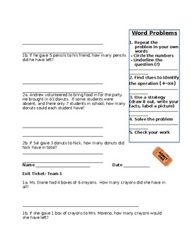 Multi-Step word problems with multiplication and division