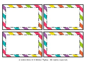 Multi Stripe Labels by Kinder Tykes