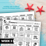 Multi-Subject Choice Board for Summer Enrichment or Distance Learning: Week 2