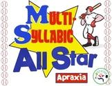 Multi Syllabic Baseball - apraxia