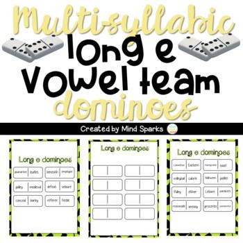 Multi-Syllabic Long E Dominoes