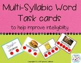 Multi-Syllabic Task Cards (Print or No Print)