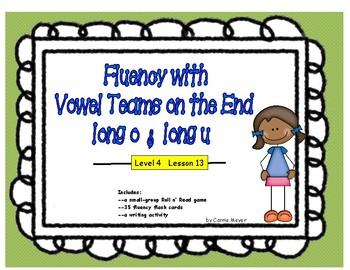 Multi-Syllabic Word Fluency: Vowel Teams on the End: Level 4 Lesson 13