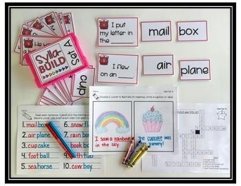 Multi-Syllabic Word Work Center FREEBIE