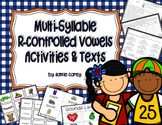 Multi-Syllable R-Controlled Vowels Activities & Texts