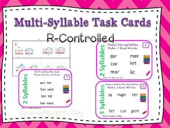 6 Syllable Types Task Cards R controlled syllable) Orton-Gillingham Dyslexia/RTI