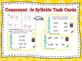 Mark Them Up Task Cards (Consonant -le syllable) Orton-Gil