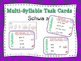 6 syllable Types Task Cards (The schwa syllable) Orton-Gil