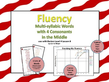 Multi-Syllable Word Fluency: 4 Consonants in the Middle:Level 4 Lesson 8