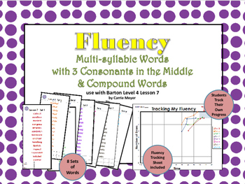 Multi-Syllable Word Fluency:Level 4 Lesson 7