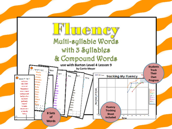 Multi-Syllable Word Fluency:Three Syllable Words:Level 4 Lesson 9