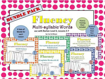 Multi-Syllable Word Fluency: Level 4 Lessons 3-7