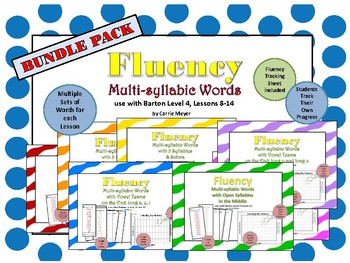 Multi-Syllable Word Fluency: Level 4 Lessons 8-14