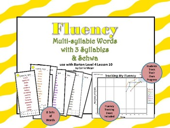 Multi-Syllable Word Fluency:Three Syllable Words & Schwa:L