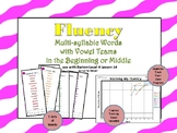 Multi-Syllable Word Fluency: Vowel Teams: Beginning & Middle: Level 4 Lesson 14