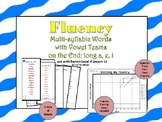 Multi-Syllable Word Fluency: Vowel Teams on the End:Level 4 Lesson 12