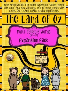 Multi-Syllable Words EXPANSION PACK for The Land of Oz Sig
