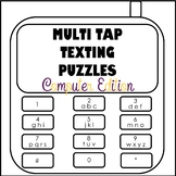 Multi Tap Texting Puzzles Computer Edition