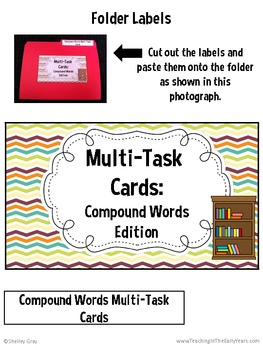 Multi-Task Cards {Compound Words Edition}