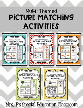 Multi-Themed Matching Picture Activities Bundle
