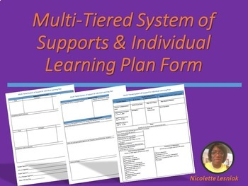 Editable: Multi-Tired System of Supports & Individual Learning Plan