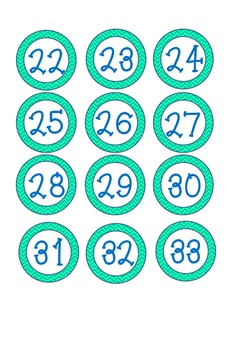 Multi-Use Printable Classroom Numbers