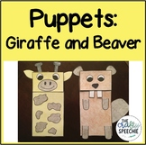 Giraffe and Beaver Puppets: Multi-Use Therapy Crafts