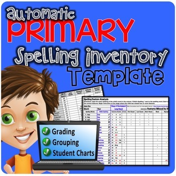 SCHOOL License (5 users) BUNDLE Automatic Spelling Inventory Templates