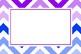Multi-color Chevron Blank Editable Labels Flashcards